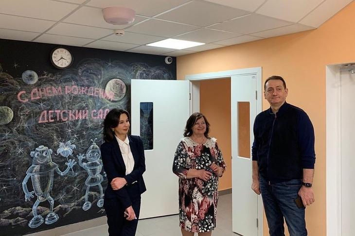 Депутат Мособлдумы Сергей Керселян посетил новый корпус детского сада № 19 «Светлячок»