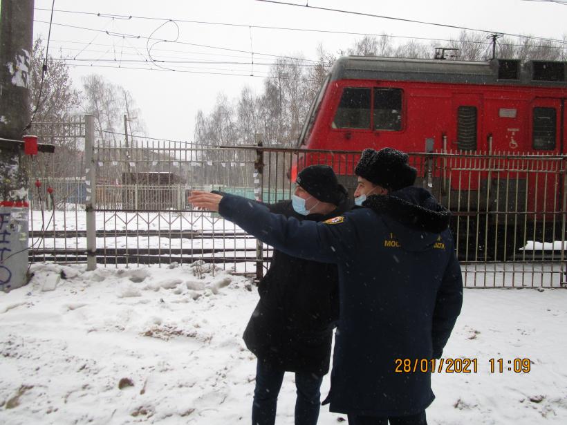 Состояние объектов инфраструктуры ж/д транспорта проинспектировал Госадмтехнадзор в Королёве